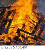 Купить «Огонь - горящее дерево», фото № 5100401, снято 29 сентября 2013 г. (c) SevenOne / Фотобанк Лори