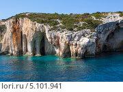 Купить «Голубые пещеры на острове Закинф», фото № 5101941, снято 10 сентября 2013 г. (c) Okssi / Фотобанк Лори