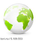 Купить «Иконка глобуса», иллюстрация № 5109553 (c) Евгения Малахова / Фотобанк Лори