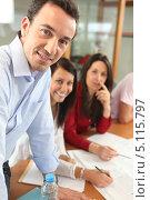 Купить «Энергичная офисная команда», фото № 5115797, снято 13 февраля 2010 г. (c) Phovoir Images / Фотобанк Лори