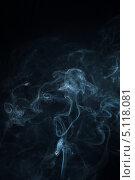 Голубой дым на черном фоне. Стоковое фото, фотограф Фесенко Сергей / Фотобанк Лори
