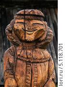 Купить «Фрагмент деревянной резной скульптуры на мифологические темы аборигенов. Быстринский этнографический музей. Камчатка», фото № 5118701, снято 18 сентября 2013 г. (c) А. А. Пирагис / Фотобанк Лори