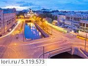 Санкт-Петербург. Геслеровский мост (2013 год). Редакционное фото, фотограф Литвяк Игорь / Фотобанк Лори