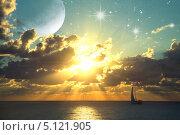 Купить «Фантастический закат», иллюстрация № 5121905 (c) Карелин Д.А. / Фотобанк Лори
