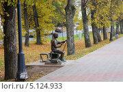 Купить «Рисующий мальчик», фото № 5124933, снято 6 октября 2013 г. (c) Константин Кург / Фотобанк Лори
