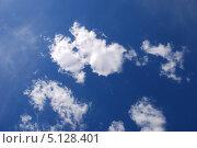 Купить «Белые воздушные облака на фоне голубого неба», эксклюзивное фото № 5128401, снято 5 июня 2011 г. (c) lana1501 / Фотобанк Лори