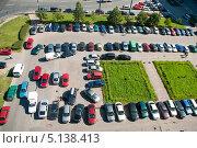 Купить «Бесплатная стихийная парковка перед бизнес центром, Санкт-Петербург, Россия», фото № 5138413, снято 25 августа 2009 г. (c) Кекяляйнен Андрей / Фотобанк Лори