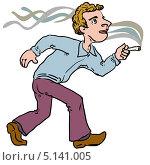 Купить «Курильщик», иллюстрация № 5141005 (c) Юрий Жеребцов / Фотобанк Лори