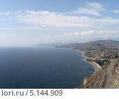 Купить «Вид на с. Морское. Крым. Панорама», фото № 5144909, снято 12 сентября 2013 г. (c) Denis Kh. / Фотобанк Лори