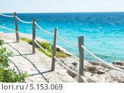 Тропинка с забором на тропическом острове (2012 год). Стоковое фото, фотограф Aleksandr Stzhalkovski / Фотобанк Лори