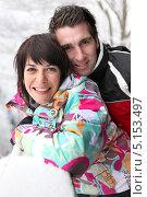 Купить «Пара лыжников», фото № 5153497, снято 15 декабря 2009 г. (c) Phovoir Images / Фотобанк Лори