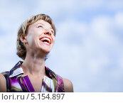 Купить «Смеющаяся женщина», фото № 5154897, снято 3 сентября 2009 г. (c) Станислав Фридкин / Фотобанк Лори