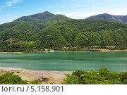 Купить «Жинвальское водохранилище. Грузия», фото № 5158901, снято 2 июля 2013 г. (c) Евгений Ткачёв / Фотобанк Лори