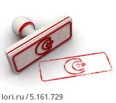 Купить «Знак соответствия техническому регламенту. Печать и оттиск», иллюстрация № 5161729 (c) WalDeMarus / Фотобанк Лори