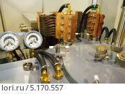 Купить «Промышленное оборудование, измерительные приборы и шланги», фото № 5170557, снято 15 мая 2012 г. (c) Vasily Smirnov / Фотобанк Лори