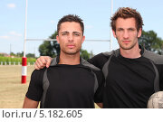 Купить «Серьезные футболисты», фото № 5182605, снято 4 июня 2010 г. (c) Phovoir Images / Фотобанк Лори