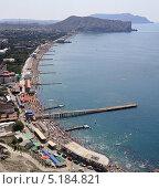 Купить «Судак. Пляж. Крым», фото № 5184821, снято 17 июля 2013 г. (c) Denis Kh. / Фотобанк Лори