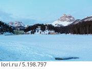 Купить «Альпийское озеро зимой, Ауронцо ди Кадоре (Италия)», фото № 5198797, снято 4 января 2013 г. (c) Юрий Брыкайло / Фотобанк Лори
