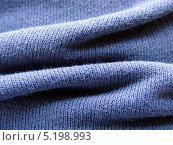Мягкая синяя трикотажная ткань крупным планом. Стоковое фото, фотограф daniel0 / Фотобанк Лори