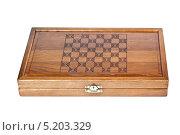 Купить «Деревянная доска для игры в нарды», фото № 5203329, снято 22 октября 2013 г. (c) Parmenov Pavel / Фотобанк Лори