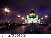 Храм Христа Спасителя. Стоковое фото, фотограф Krasnoperov Rostislav / Фотобанк Лори