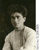 Купить «Мужской портрет, 1928 г», эксклюзивное фото № 5208005, снято 26 февраля 2020 г. (c) Михаил Ворожцов / Фотобанк Лори