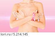 Купить «Розовая ленточка - символ борьбы с раком груди», фото № 5214145, снято 25 июля 2013 г. (c) Syda Productions / Фотобанк Лори