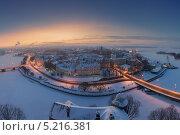 Купить «Вид на Выборг с башни святого Олафа зимой», фото № 5216381, снято 22 июля 2019 г. (c) Смелов Иван / Фотобанк Лори