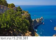 Вид на море сверху с крепости в г. Аланья. Стоковое фото, фотограф Тимур Уразов / Фотобанк Лори