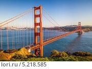 Купить «Мост Золотые ворота на закате. Сан-Франциско», фото № 5218585, снято 4 апреля 2020 г. (c) Sergey Borisov / Фотобанк Лори