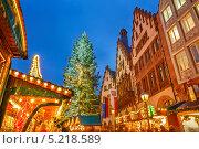 Рождественский рынок во Франкфурте. Стоковое фото, фотограф Sergey Borisov / Фотобанк Лори