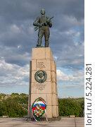 Купить «Памятник отважным советским солдатам в память об освобождении города Киркенес 1944 г», эксклюзивное фото № 5224281, снято 24 июня 2013 г. (c) Алексей Шматков / Фотобанк Лори
