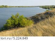 Вид на широкую реку с берега. Стоковое фото, фотограф Михаил Бессмертный / Фотобанк Лори