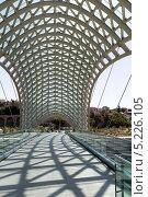 Купить «Мост Мира - пешеходный мост на реке Мтквари в Тбилиси, Грузия», фото № 5226105, снято 3 июля 2013 г. (c) Евгений Ткачёв / Фотобанк Лори