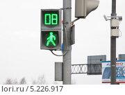 Купить «Зелёный сигнал на пешеходном светофоре», эксклюзивное фото № 5226917, снято 21 апреля 2012 г. (c) Алёшина Оксана / Фотобанк Лори