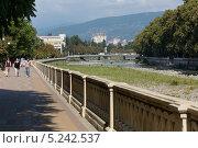 Купить «Русло реки Сочи в городе Сочи», фото № 5242537, снято 7 сентября 2012 г. (c) Михаил Иванов / Фотобанк Лори