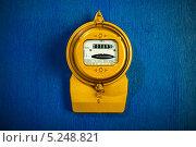 Купить «Электросчетчик», фото № 5248821, снято 7 ноября 2013 г. (c) Угоренков Александр / Фотобанк Лори