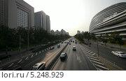 Дорожное движение в Пекине (2013 год). Редакционное видео, видеограф Перов Евгений / Фотобанк Лори