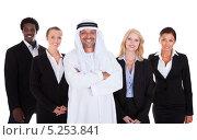Купить «радостные бизнесмены разных национальностей», фото № 5253841, снято 23 июня 2013 г. (c) Андрей Попов / Фотобанк Лори