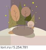 Осенний пейзаж. Стоковая иллюстрация, иллюстратор Марина Дычек / Фотобанк Лори