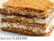 Купить «Кусочек слоеного торта», фото № 5254885, снято 7 ноября 2013 г. (c) Владимир Белобаба / Фотобанк Лори