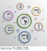 Купить «Инфографика с компьютерными символами», иллюстрация № 5255725 (c) Андрей Ярославцев / Фотобанк Лори