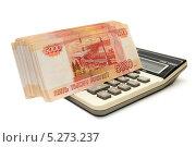 Купить «Деньги и калькулятор», эксклюзивное фото № 5273237, снято 2 марта 2011 г. (c) Юрий Морозов / Фотобанк Лори