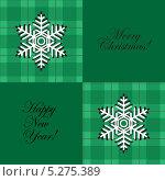 Дизайнерский зеленый Новогодний фон. Стоковая иллюстрация, иллюстратор Марина Дычек / Фотобанк Лори