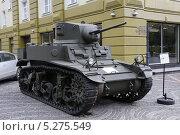 Купить «Американский легкий танк М3 Stuart («Стюарт»). Музей техники В. Задорожного. Московская область», фото № 5275549, снято 12 сентября 2013 г. (c) Александр Демин / Фотобанк Лори