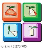 Дизайнерский фон с яблоками. Стоковая иллюстрация, иллюстратор Марина Дычек / Фотобанк Лори