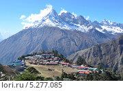 Купить «Непал, Гималаи, селение Тьянбоче», фото № 5277085, снято 23 октября 2013 г. (c) Овчинникова Ирина / Фотобанк Лори