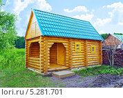 Бревенчатый дом, баня на даче. Стоковое фото, фотограф Александр Басов / Фотобанк Лори