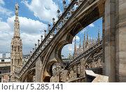 Купить «Крыша кафедры Милана (Италия)», фото № 5285141, снято 14 июня 2012 г. (c) Юрий Брыкайло / Фотобанк Лори