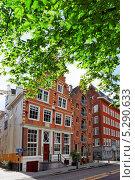 Купить «Типичные дома на улице Амстердама», фото № 5290633, снято 19 сентября 2013 г. (c) Vitas / Фотобанк Лори